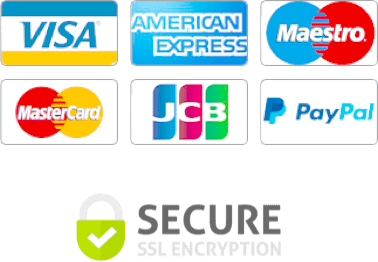 Credit Card logos and SSL secure