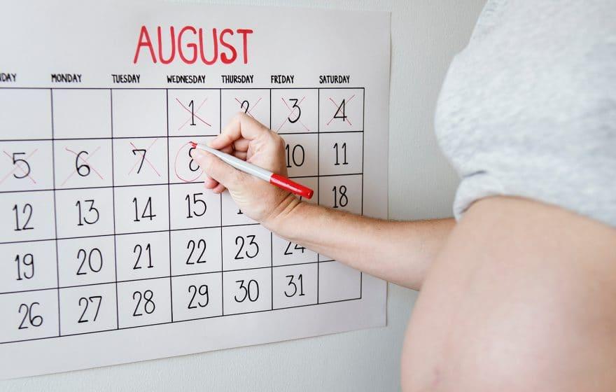 person crossing calendar days