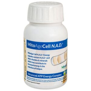 mitoagecell nad+ atp energy capsules bottle