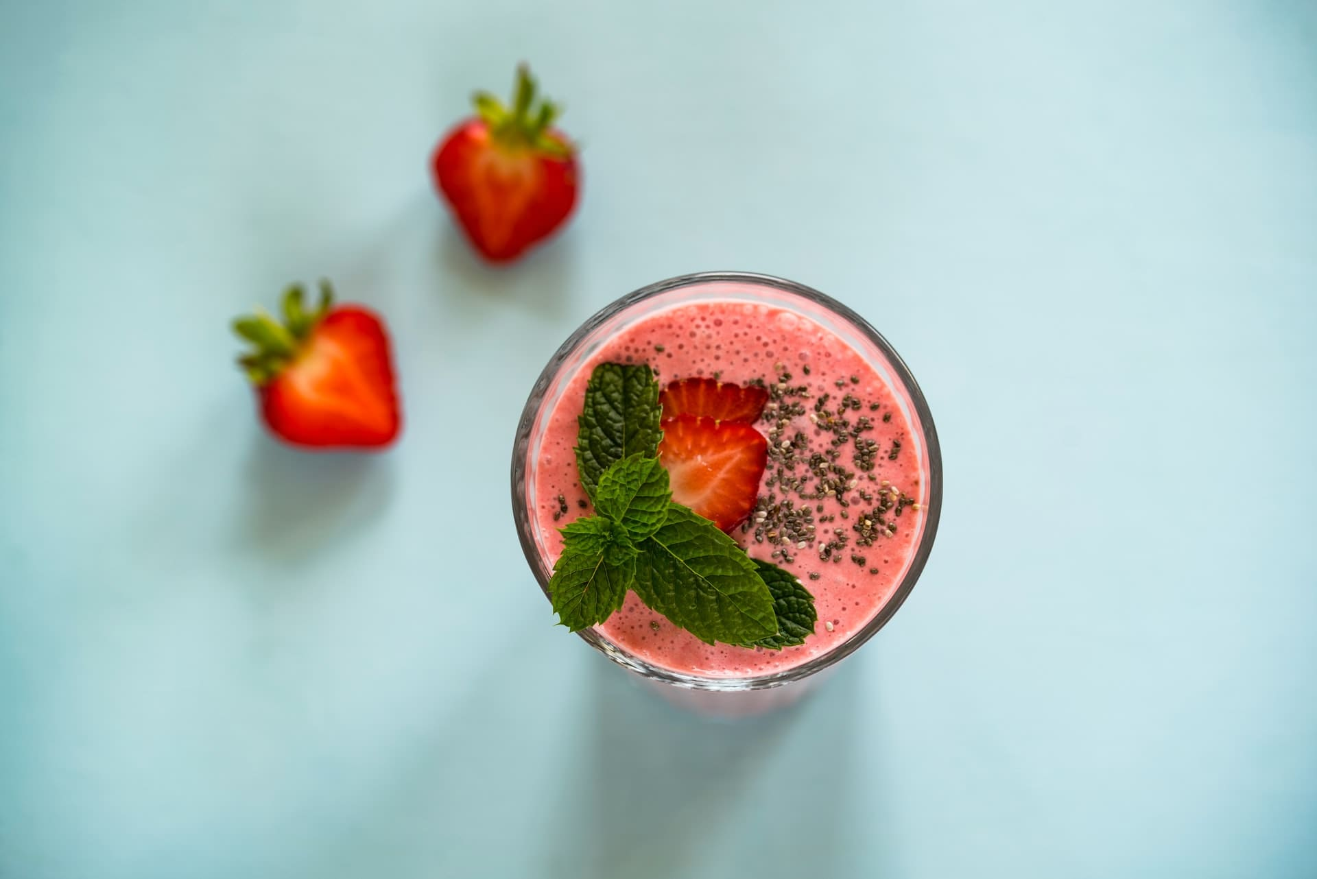 Strawberry Smoothie Filled with Vitamin C