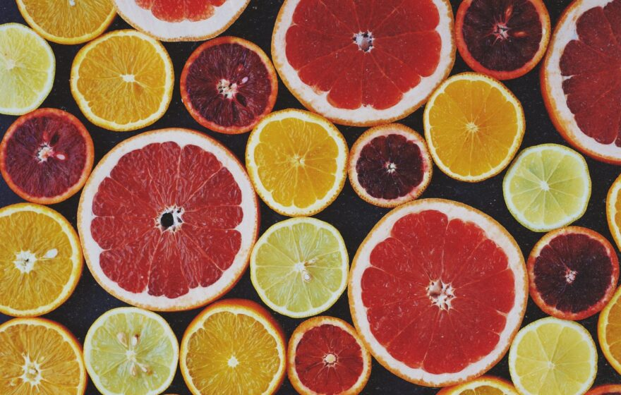 Assorted Slices of Citrus Fruits